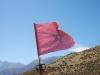 Marokko Fahne im Atlas Gebirge