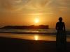 Spass mit dem Bodyboard am Strand von Sidi Kaouki