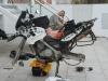 Wechsel der Offroadreifen beim Irish Dakar Team in Algeciras Spanien